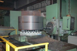 Machining grooves in a Winch Drum